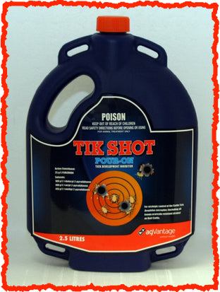 TIK SHOT POUR-ON TICK DEVELOPMENT INHIBITOR 2.5-Litre