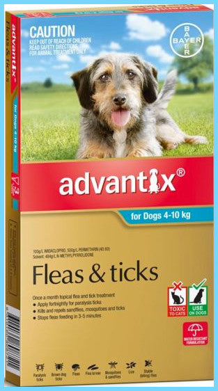 Advantix - Aqua for Medium Dogs weighing - 4-10kg.
