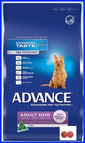 Advance - Adult Total Wellbeing Small Breed Turkey And Rice