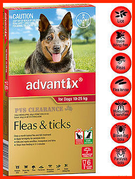 Advantix Red - for Large Dogs weighing - 10-25kg.