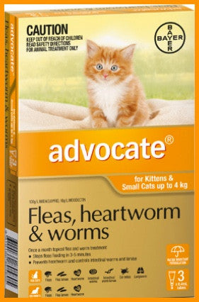 Advocate CAT ORANGE 0-4KG