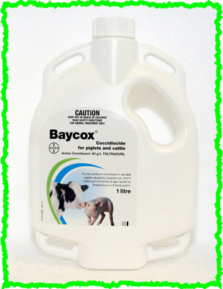 BAYCOX® COCCIDIOCIDE FOR PIGLETS AND CATTLE 1-Litre (Toltrazuril)