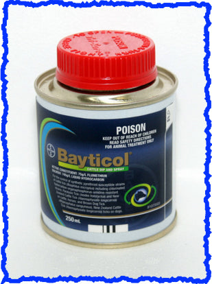 BAYTICOL CATTLE DIP AND SPRAY 250-mL