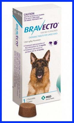 Bravecto - Chewables for Dogs 20 - 40 kg - Blue