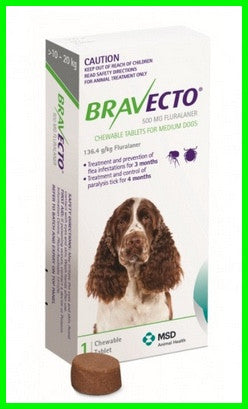 Bravecto - Chewables for Dogs 10 - 20 kg - Green
