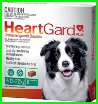 Heartgard - Heartgard plus - 3's & 6's - Green 12-22kg