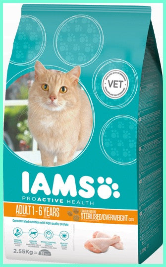 Iams - ProActive Health Adult Cat Light Sterilised Food - 2.55KG