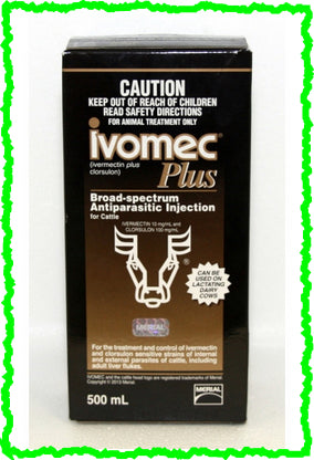 IVOMEC PLUS INJECTION FOR CATTLE 500-mL