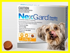 NexGard - For Dogs - Orange Very Small 2.0-4kg - 6 Pack