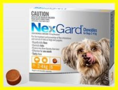 NexGard - For Dogs - Orange Very Small 2.0-4kg - 3 Pack