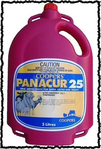 COOPERS PANACUR 25 ORAL ANTHELMINTIC FOR CATTLE / SHEEP / GOATS