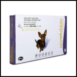 Revolution - Dog - Purple - 2.6-5kg - 3's & 6's
