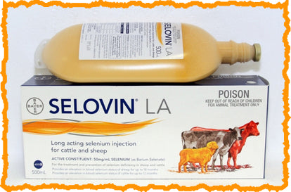 SELOVIN™ LA LONG ACTING SELENIUM INJECTION FOR CATTLE & SHEEP 500-mL