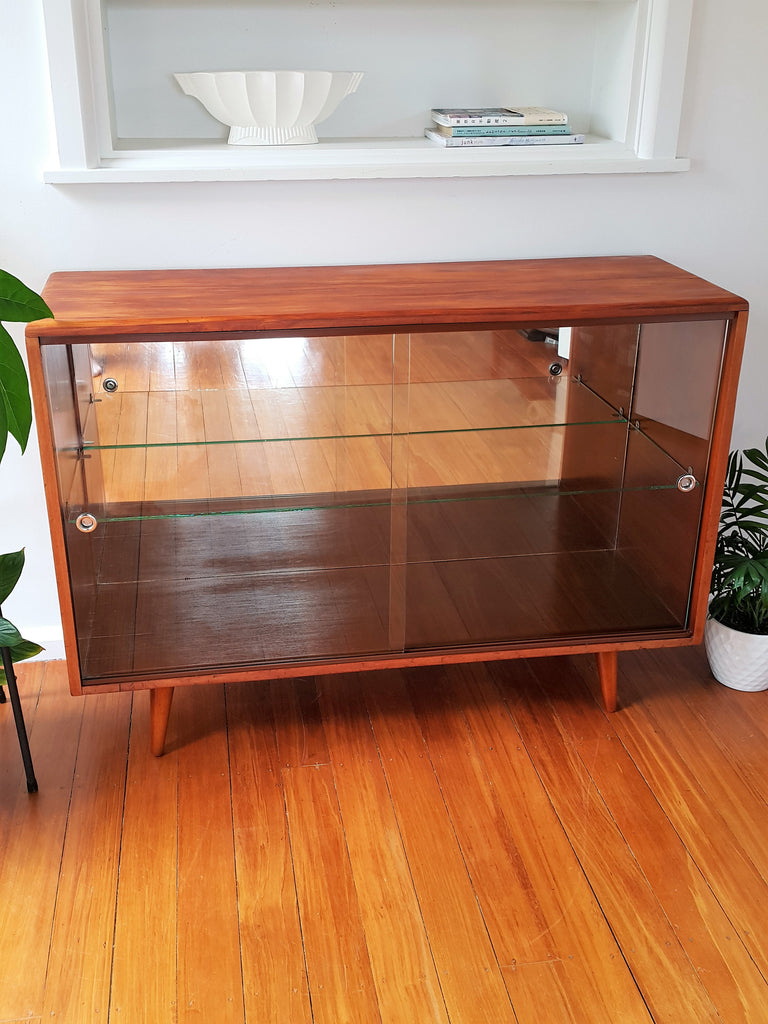 SOLD Retro Glass Front Cabinet
