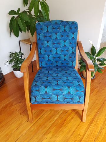 SOLD Restored Art Deco Occasional Armchair