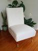 Restored White Retro Occasional Chair