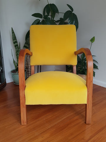 SOLD Restored Art Deco Armchair