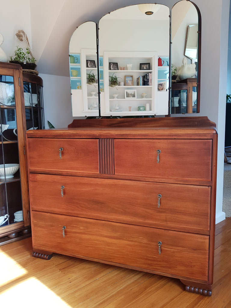 Art Deco Drawers With Folding Mirror