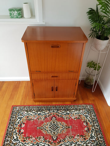 Mid Century Single Cocktail Cabinet (Made in NZ)