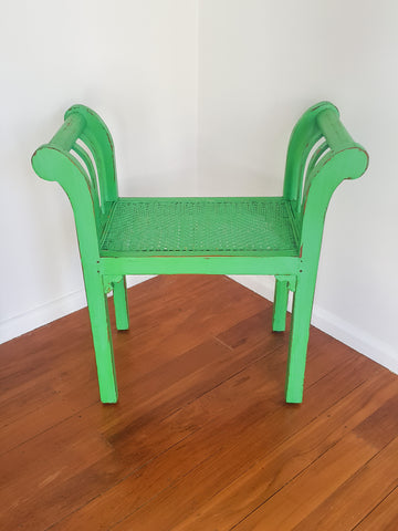 Distressed Indonesian Style Cane Seat