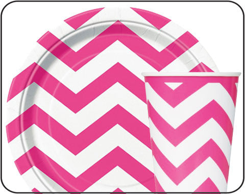 Hot Pink Chevron Party Supplies