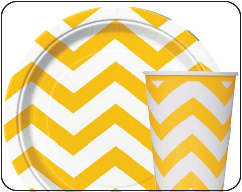 Sunshine Yellow Chevron Party
