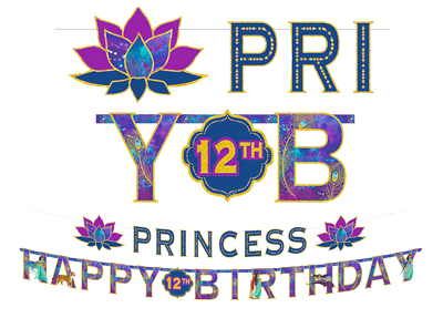 Aladdin Happy Birthday Banner
