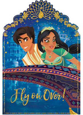 Aladdin Party Invitations pk8