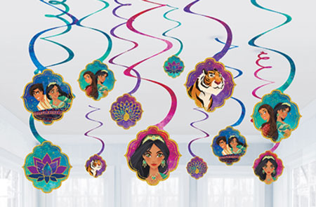 Aladdin Swirl Decorations