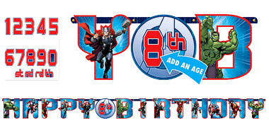 Avengers 'Add an Age' Birthday Banner