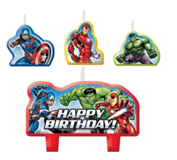 Avengers Party Candles