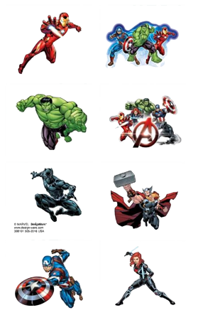 Avengers Party Tattoos