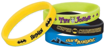 Batman Rubber Bracelets