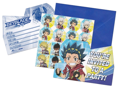 Beyblade Party Invitations NZ
