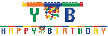 Lego Blocks Happy Birthday Banner