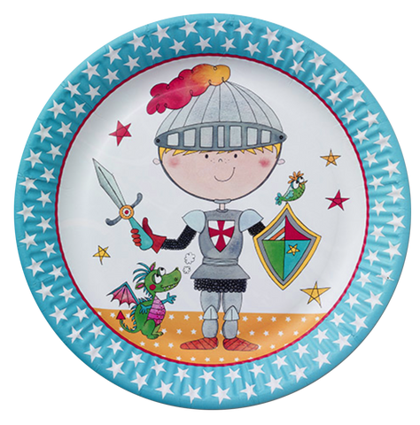 Brave Knight Party Plates