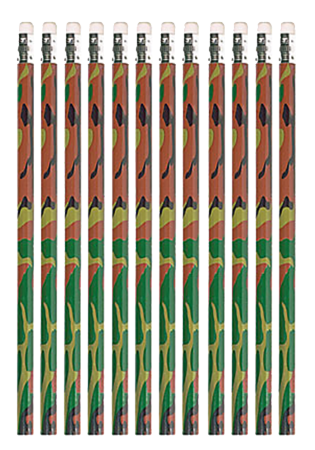Camo Pencils Party Favours
