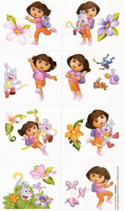 Dora the Explorer Party Tattoos