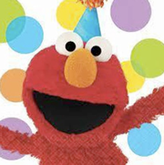 Elmo Party Plates, Napkins, party supplies, sesame street, big bird, elmo,