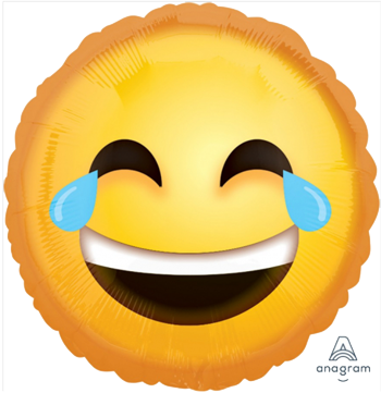 Emoji Laughing Foil Balloon