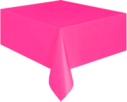 Hot Pink Plastic Table Cloth