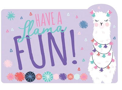 Llama Fun Party Invitations pk8