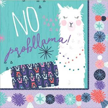 Llama Fun Party Napkins