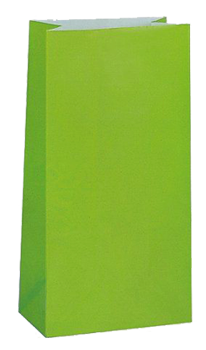 Lime Green Party Bags pk10