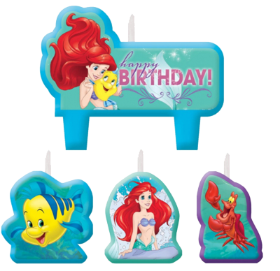 Little Mermaid Party Candles NZ