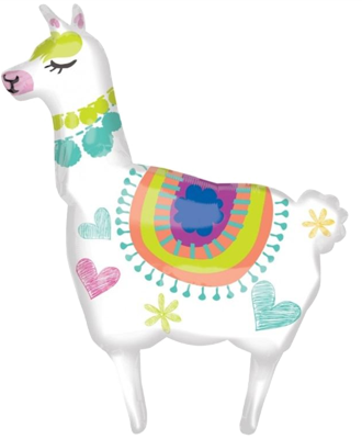 Llama Fun Supershape Foil Balloon