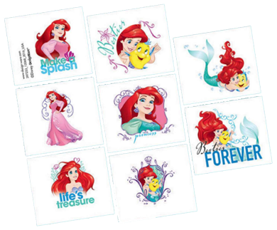Little Mermaid Party Tattoos