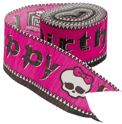 Monster High Crepe Paper Streamer