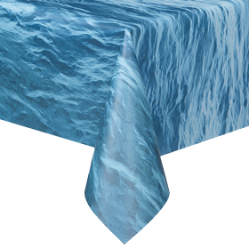 Ocean Waves Plastic Table Cloth