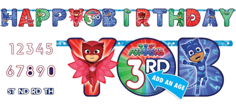 PJ Masks Add an Age Birthday Banner